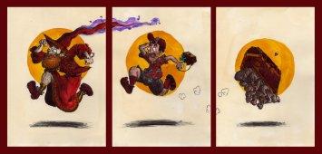 http://monkey-fromthebridge.deviantart.com/art/Rincewind-Twoflower-and-the-luggage-frieze-422580645