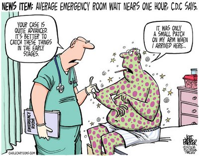 Emergency room cartoon
