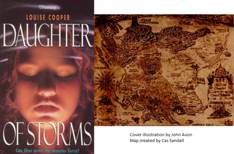Daughter of Storms cover and map