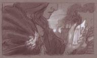 """Sketch idea for """"Mirror Sight"""" by Donato Giancolo, 2014"""