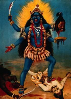 http://en.wikipedia.org/wiki/Kali#mediaviewer/File:Kali_by_Raja_Ravi_Varma.jpg