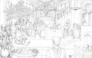 http://dubugomdori.deviantart.com/art/Hundred-Thousand-Kingdoms-Grandfather-by-Jemisin-269607055