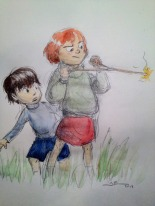 http://baldmelon.tumblr.com/post/55272505169/illustrating-my-copy-and-my-daughters
