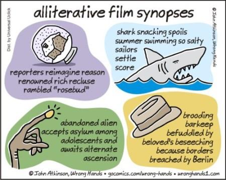 alliterative film synopses