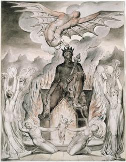 "Illustrations to Milton's ""On the Morning of Christ's Nativity,"" The Thomas Set; Artist: William Blake, 1809"