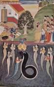 Krishna, Kaliya Naag & Nãga, audience w/Nanda Baba and Balarama