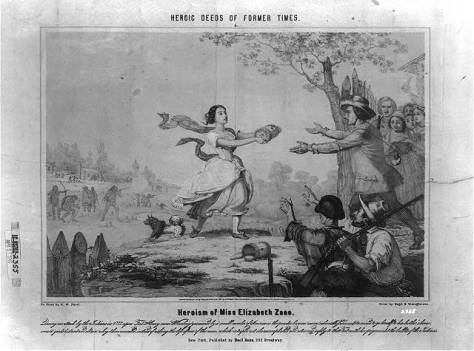 Heroism of Miss Elizabeth Zane, 1851